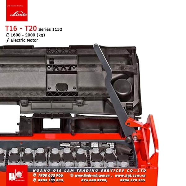 xe nâng điện pallet truck linde T16 T20 series 1152