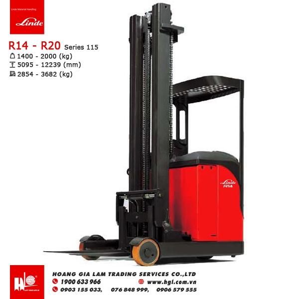 Xe nâng điện reach truck LINDE R14 – R20 (Series 115)