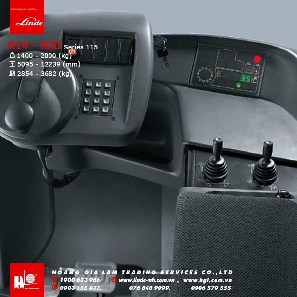 xe nâng linde r14 an toàn