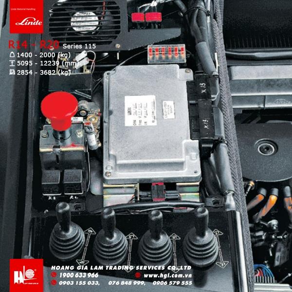 xe nâng điện reach truck linde R14 - R20