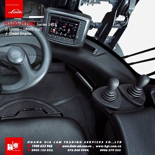 xe nâng diesel forklift Linde H100 - H180