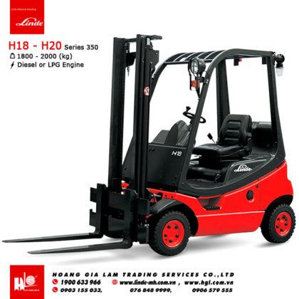 Xe nâng diesel forklift LINDE H18 - H20 (Series 350)