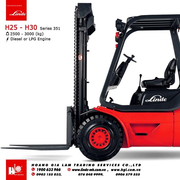 xe nâng diesel forklift Linde H25 - H30