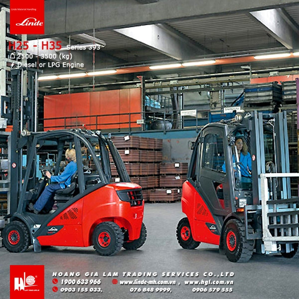 Xe nâng diesel forklift linde H25 - H35