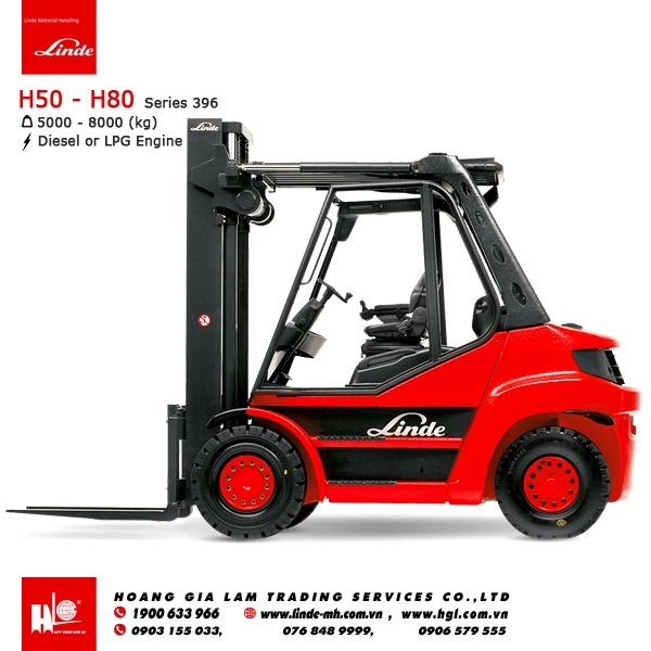 xe nâng diesel forklift Linde H50 - H80