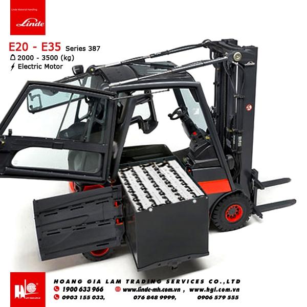 Xe nâng điện forklift LINDE E25 - E35