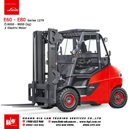 Xe nâng điện forklift LINDE E60 - E80