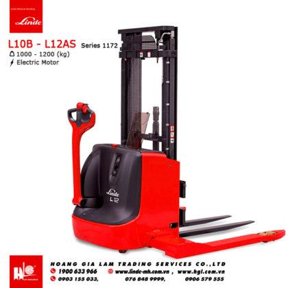Xe nâng điện pallet stacker LINDE L10B - L12AS