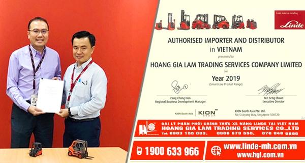 Hoàng Gia Lâm Đại lý phân phối CHÍNH THỨC xe nâng Linde của Đức tại Việt Nam