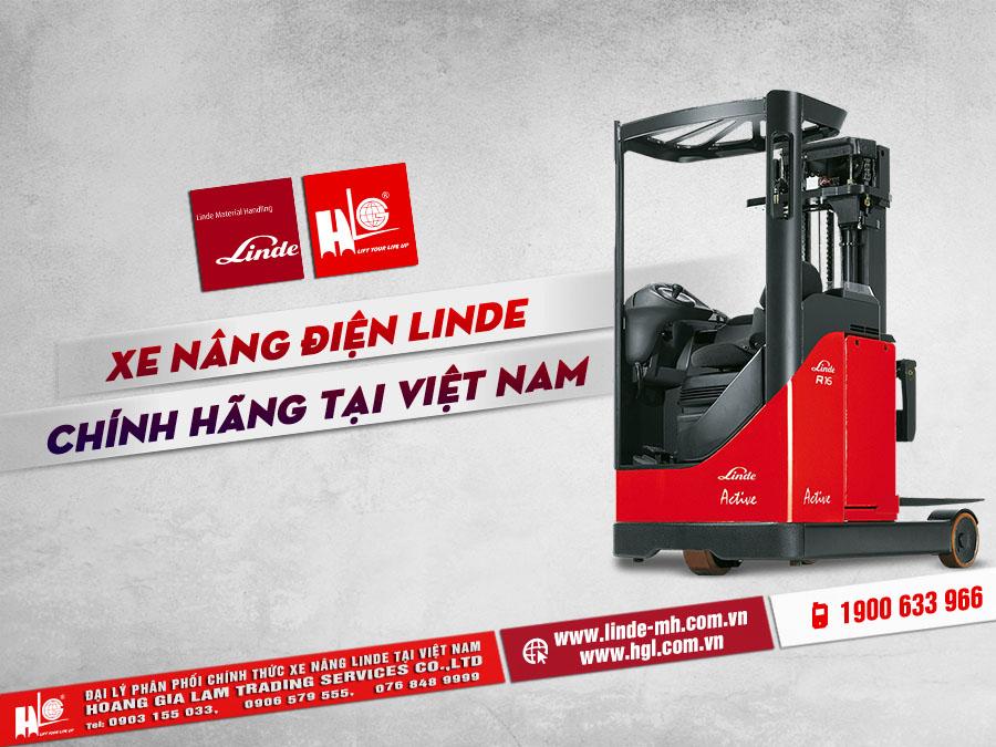 Xe nâng điện Linde chính hãng tại Việt Nam