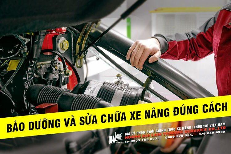bảo dưỡng xe nâng điện đúng cách
