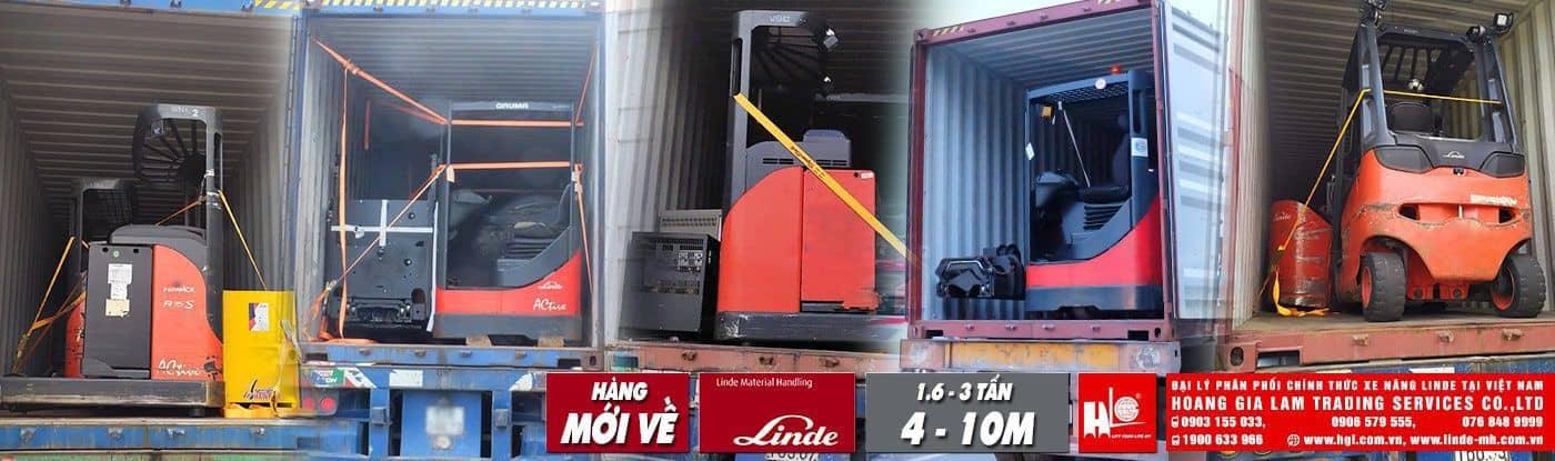 Hàng mới về 11.2019: 5 container xe nâng Linde (Đức), tải trọng nâng 1.6 tấn – 3 tấn