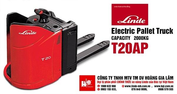 Xe nâng điện pallet truck LINDE T20-T24SP (Series 131)