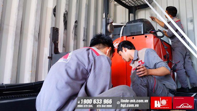 CTY Hoàng Gia Lâm xuất khẩu container xe nâng Linde đầu năm 2020
