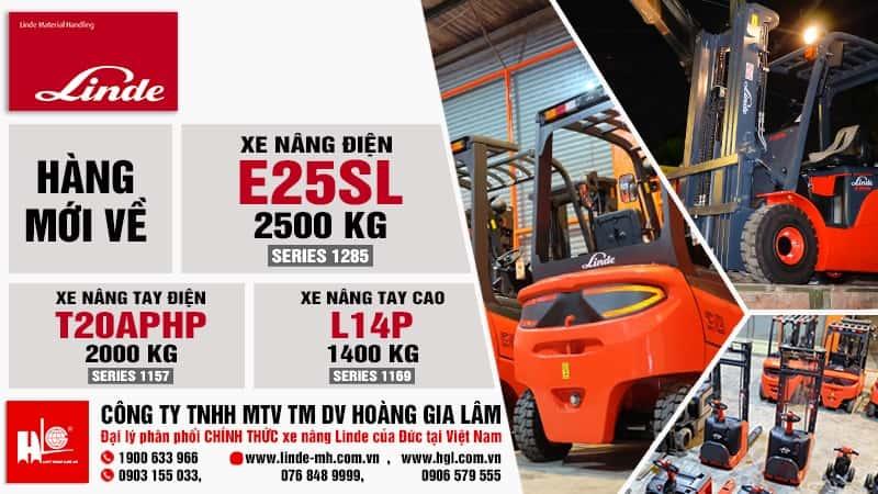 Hàng mới về 1.2020: Xe nâng điện Linde E25SL, T20APHP, L14P
