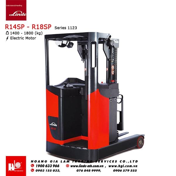 Xe nâng Linde Reach Truck R14SP, R16SP, R18SP