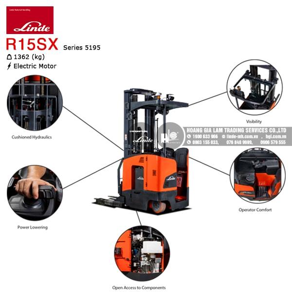 xe nâng điện double deep Linde R15SX