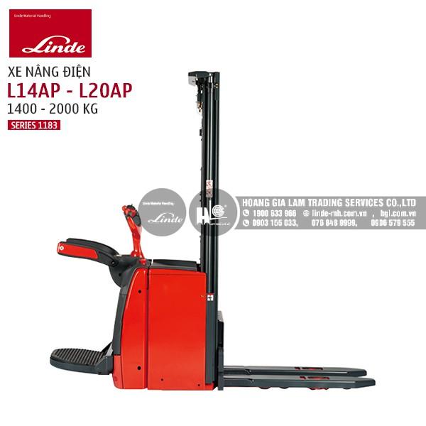 Xe nâng điện Linde Pallet Stacker L14AP - L20AP (Series 1183)