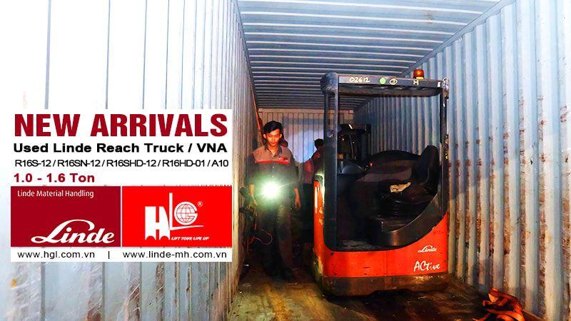 Hàng mới về 10.2020: Container xe nâng Linde đã qua sử dụng