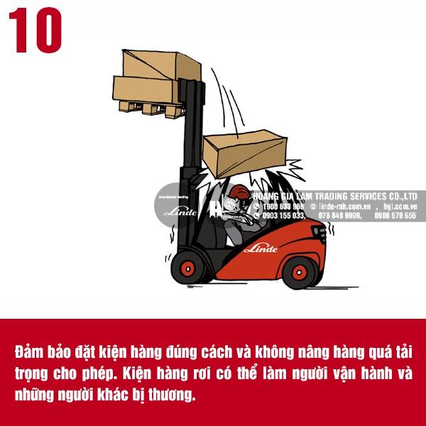 20 quy tắc an toàn khi vận hành xe nâng