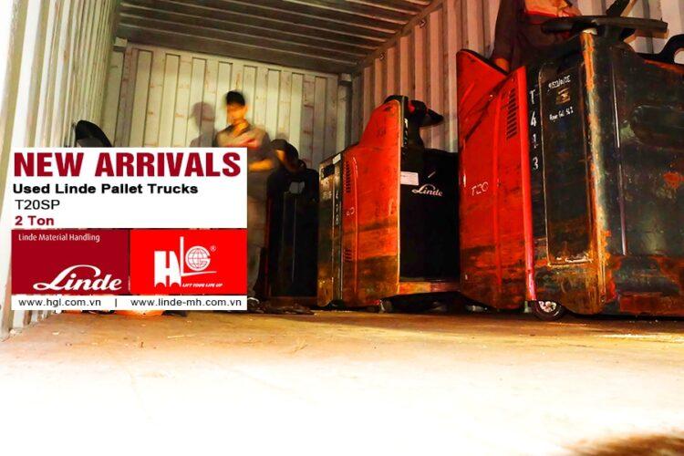 Hàng mới về 11.2020: Container xe nâng tay điện Linde 2 tấn