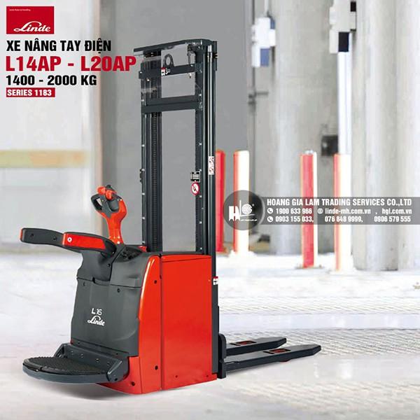 Xe nâng tay cao Linde L14AP-L20AP (Series 1183)