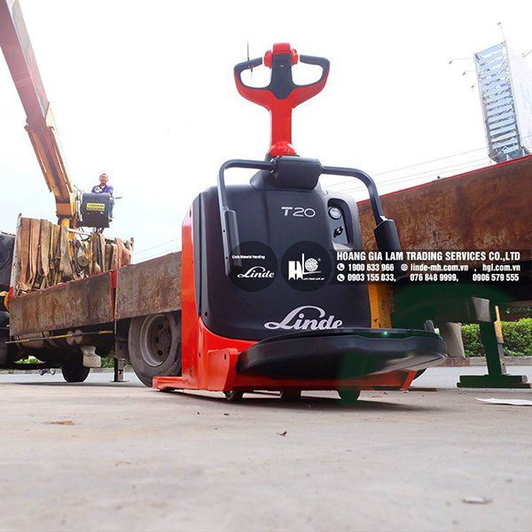 Hàng mới về 12.2020: Container xe nâng Linde E30SL, MV01, T20, T20P