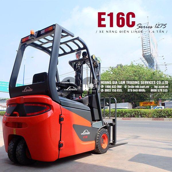 Xe nâng điện 3 bánh Linde E16C