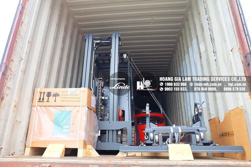 Hàng mới về 5.2021: Container xe nâng Linde E20PH, HT30D